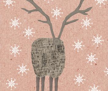Kerstkaart-Hert