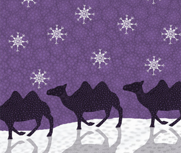 Kerstkaart-Kamelen