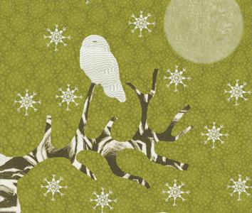 Kerstkaart-Uil